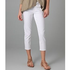Paige Roxbury Crop White Jeans